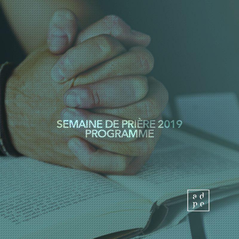 Dépliant -Semaine de prière 2019